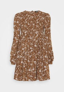 Fashion Union - FLOWERPOT DRESS - Freizeitkleid - brown