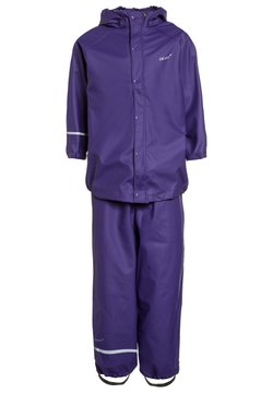 CeLaVi - RAINWEAR SUIT BASIC SET WITH FLEECE LINING - Regnbyxor - purple