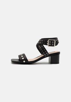 Pepe Jeans - ROMY STUDS - Sandalias - black