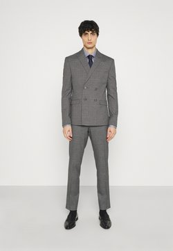 Isaac Dewhirst - CHECK DOUBLE BREASTED SUIT - Costume - grey
