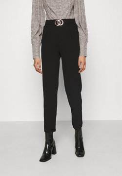 New Look - GO SCUBA CREPE BELTED  - Stoffhose - black