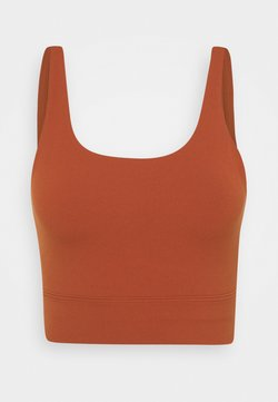 Nike Performance - YOGA LUXE CROP TANK - Funktionsshirt - rugged orange/light sienna