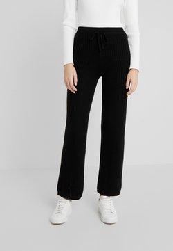 pure cashmere - LONG PANTS - Bukser - black
