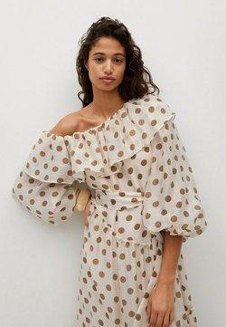 Mango - Korte jurk - ecru
