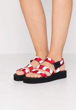 Proenza Schouler - Korkeakorkoiset sandaalit - rosso/bianco