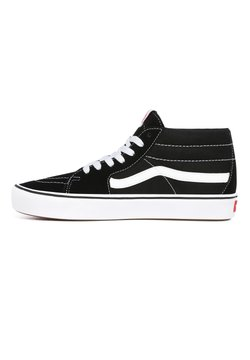 Vans - UA ComfyCush SK8-Mid - Korkeavartiset tennarit - (classic) black/true whit