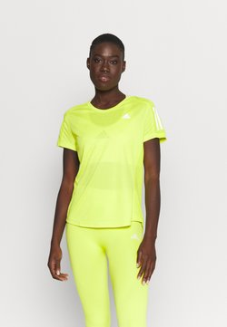 adidas Performance - OWN THE RUN TEE - T-Shirt print - acid yellow