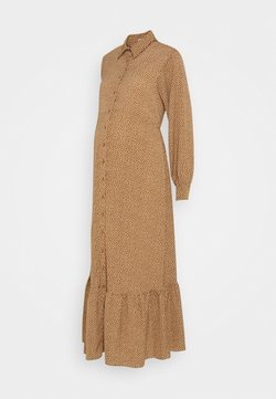 Glamorous Bloom - SHIRT DRESS MATERNITY - Maxikleid - rust/cream