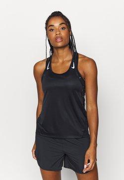 Nike Performance - MILER TANK RACER - Sportshirt - black