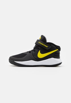 Nike Performance - TEAM HUSTLE D 9 FLYEASE UNISEX - Koripallokengät - black/high voltage/white/smoke grey