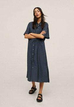 Mango - Vestido camisero - dunkles marineblau