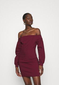 Who What Wear - OFF THE SHOULDER MINI DRESS - Freizeitkleid - burgundy