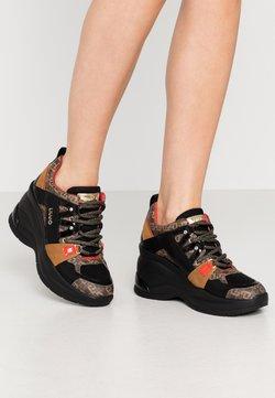 Liu Jo Jeans - KARLIE REVOLUTION  - Sneakers laag - black/burgundy