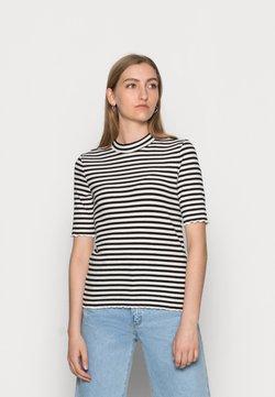 Selected Femme - ANNA CREW NECK TEE  - T-Shirt print - black
