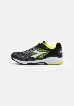 Diadora - SPEED COMPETITION 5 + AG - Tennisschoenen voor alle ondergronden - black/white/yellow