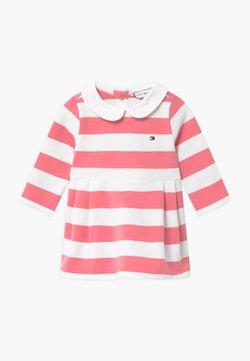 Tommy Hilfiger - BABY RUGBY STRIPE - Freizeitkleid - pink