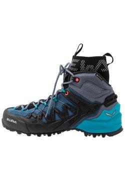 Salewa - WILDFIRE EDGE MID GTX - Hiking shoes - poseidon/grisaille