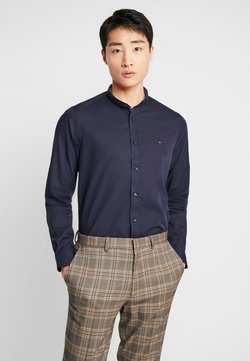 Tommy Hilfiger Tailored - POPLIN BAND COLLAR SLIM  FIT - Camisa - blue