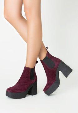 TJ Collection - High Heel Stiefelette - bordeaux