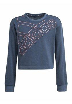adidas Performance - ADIDAS ESSENTIALS LOGO SWEATSHIRT - Jersey de punto - blue