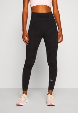 Puma - EVOKNIT SEAMLESS LEGGINGS - Tights - black