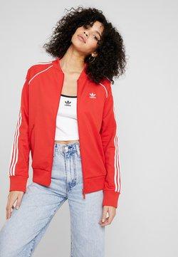 adidas Originals - SUPERSTAR ADICOLOR SPORT INSPIRED TRACK TOP - Chaquetas bomber - lush red/white