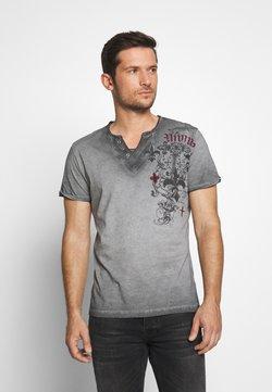 Key Largo - KNIGHT BUTTON - T-shirt print - silver