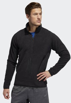 adidas Performance - FREELIFT 3-STRIPES POLARFLEECE SWEATSHIRT - Collegepaita - black
