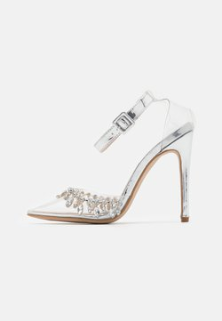 BEBO - RASSEL - High Heel Pumps - clear/silver