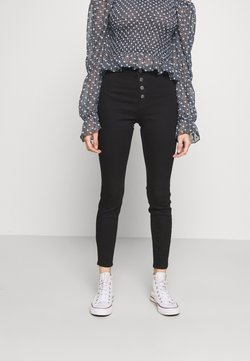 Lost Ink Petite - MID RISE JEGGING - Jeans Skinny Fit - black