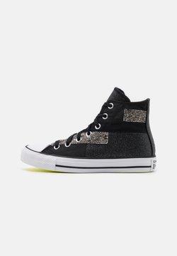 Converse - CHUCK TAYLOR ALL STAR GLITTER PATCH - Sneakers hoog - black/lemon/white
