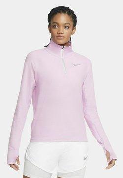 Nike Performance - LÖPARTRÖJA NIKE SPHERE MED HALVLÅNG DRAGKEDJA FÖR KVINNOR - Funktionsshirt - beyond pink/heather