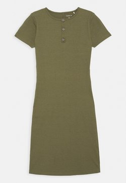 Name it - NKFRIBSA MIDI DRESS - Jerseykleid - ivy green