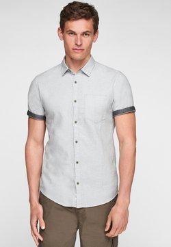 Q/S designed by - EXTRA SLIM - Businesshemd - white melange