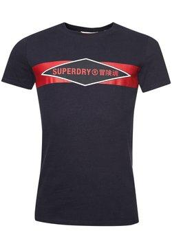 Superdry - VINTAGE - T-shirt imprimé - atlantic navy