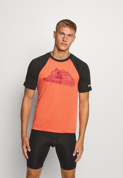 Zimtstern - PUREFLOWZ MEN - T-Shirt print - pirate black/living coral