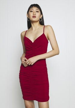 WAL G. - RUCHED STRAPPY DRESS - Cocktail dress / Party dress - red