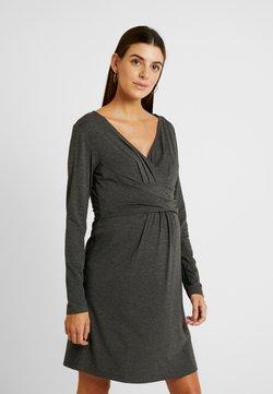 Gebe - DRESS HANNA - Trikoomekko - grey melange