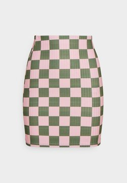 NEW girl ORDER - CHECKERBOARD MINI SKIRT - Minirock - pink