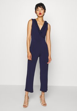 Anna Field - OCCASION - SLEEVELESS VOLANT NECKLINE JUMPSUIT - Jumpsuit - evening blue