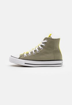 Converse - CHUCK TAYLOR ALL STAR UTILITY WEBBED UNISEX - Korkeavartiset tennarit - light field surplus/light zitron/black