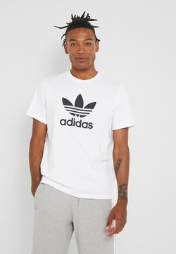 adidas Originals - TREFOIL UNISEX - T-shirt med print - white