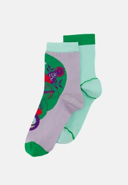 Hysteria by Happy Socks - STINA + LIV 2 PACK - Socken - purple/green