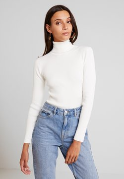 Missguided - ROLL NECK  - Strickpullover - off white