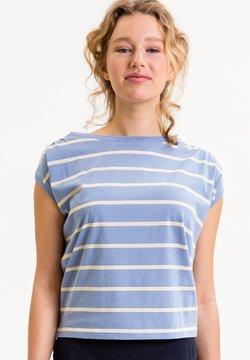 UVR Berlin - TIFFANYINA - T-Shirt print - hellblau mit pastellfarbenen streifen