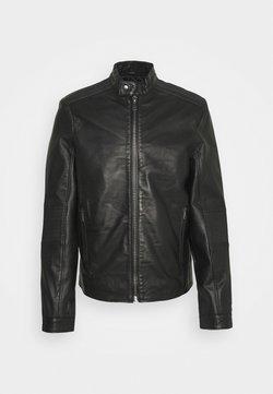 Bruuns Bazaar - THOMAS JACKET - Giacca di pelle - black