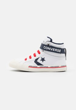 Converse - PRO BLAZE STRAP - Baskets montantes - white/obsidian/university red