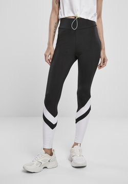 Urban Classics - Leggings - Hosen - black/white