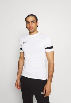 Nike Performance - ACADEMY 21 - T-shirt imprimé - white/black