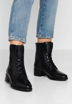 Anna Field - LEATHER WINTER BOOTIES - Bottines à lacets - black